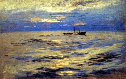 The Derelict, John Singer Sargent OH! I love how he painted water!