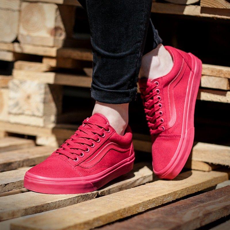 vans old skool czerwone męskie