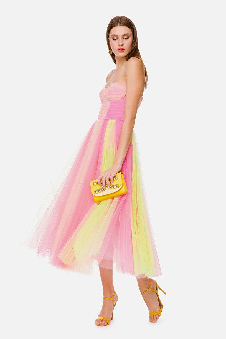 Tulle Midi Dress With Sweetheart Neckline Tulle Midi Dress Silk Dress Long Elegant Outfit [ 1151 x 767 Pixel ]