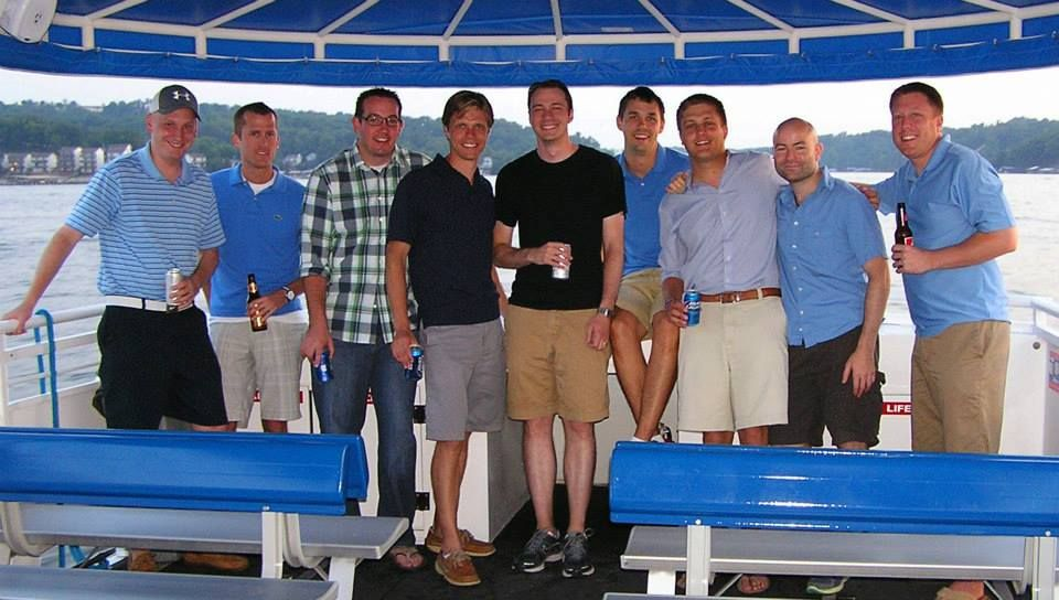 Chauffeured bachelor party charter boat ozarks ozarks