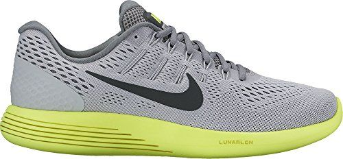 dfcc468a699d0b Men s Nike LunarGlide 8 Running Shoe Wolf Grey Anthracite Volt Cool Grey  Size