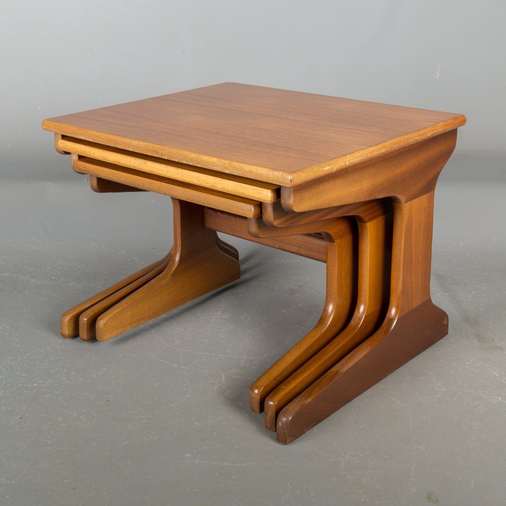 Nest Of Three Retro Teak Coffee Tables Teak Coffee Table Teak Coffee Table