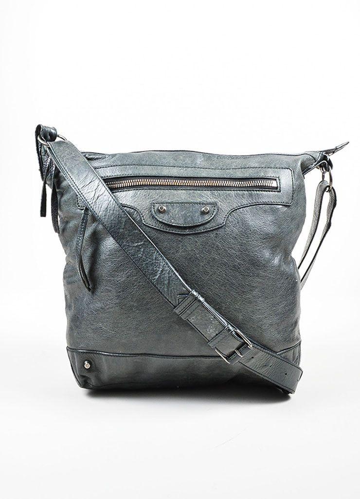 Balenciaga Gray Leather Arena Classic Day Shoulder Bag 2t5mCE