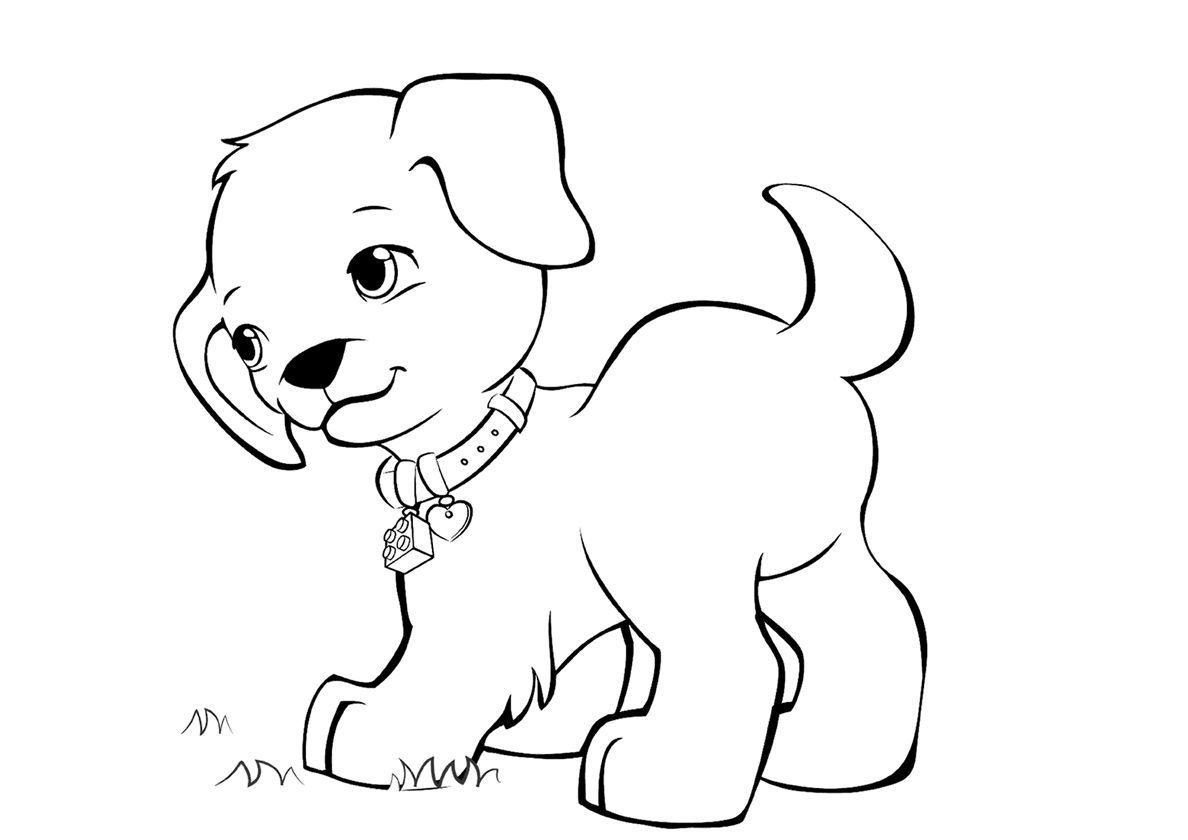 Walking Frisky Puppy In 2020 Puppy Coloring Pages Free Coloring