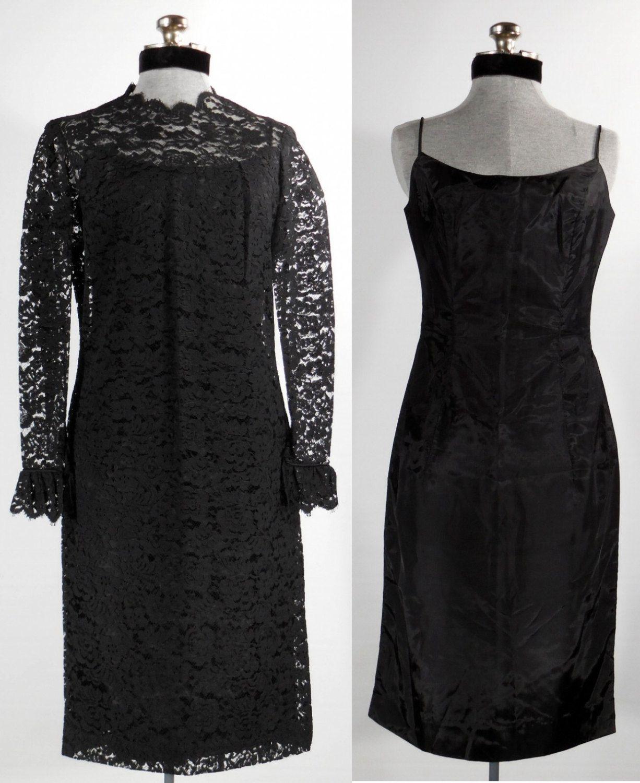 Vintage 1960s 2 Piece Evening Dress Black Lace Dress Steampunk Etsy Dresses Lace Dress Black Black Evening Dresses [ 1500 x 1226 Pixel ]