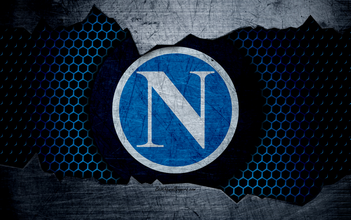 Download Wallpapers Napoli 4k Art Serie A Soccer Logo Football