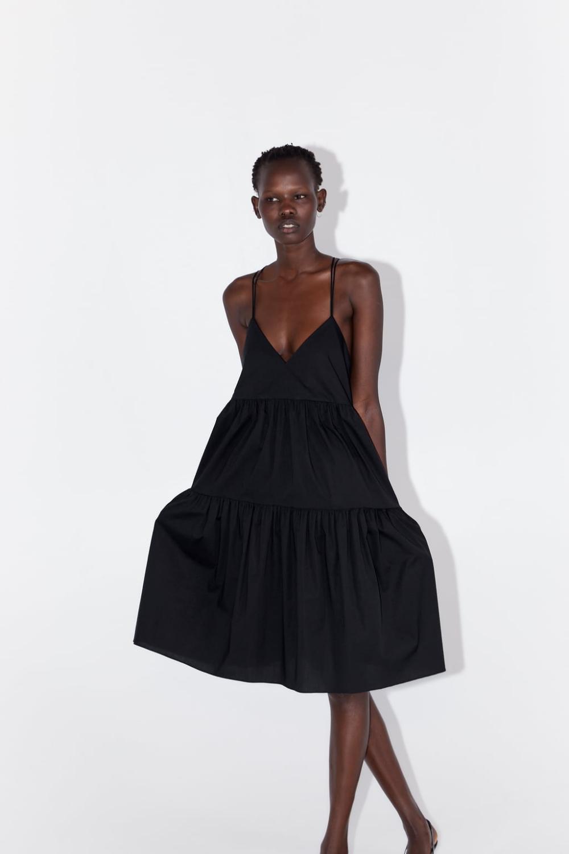 Pin by SEVİL BATUHAN on ZARA   Poplin dress, Dresses, Backless dress