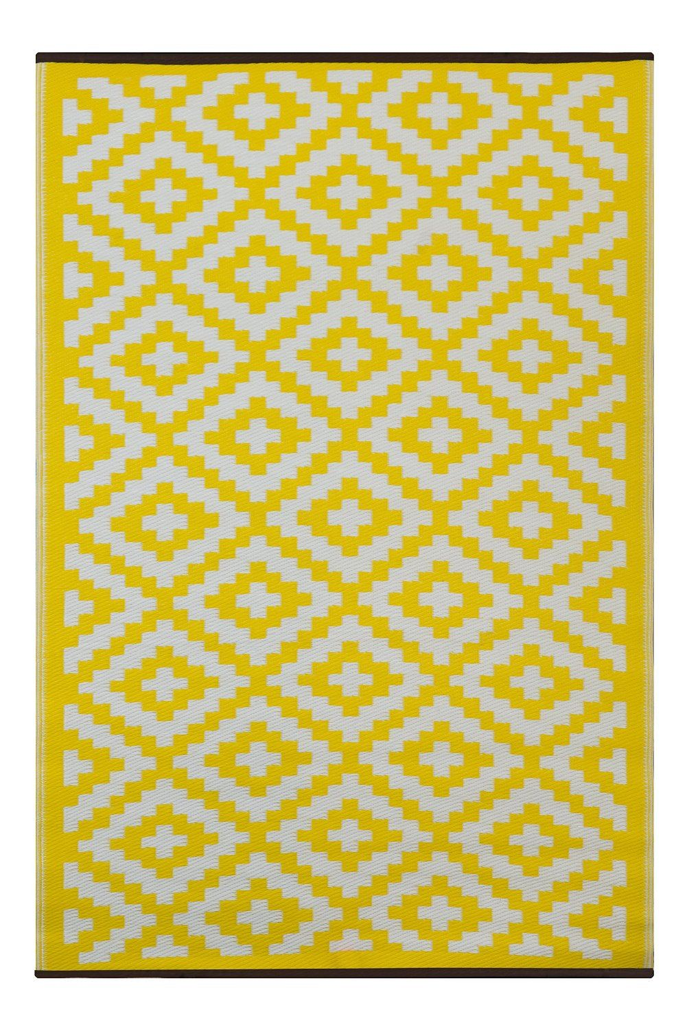 green decore 90 x 150 cm nirvana int rieur ext rieur l ger r versible eco tapis jaune. Black Bedroom Furniture Sets. Home Design Ideas