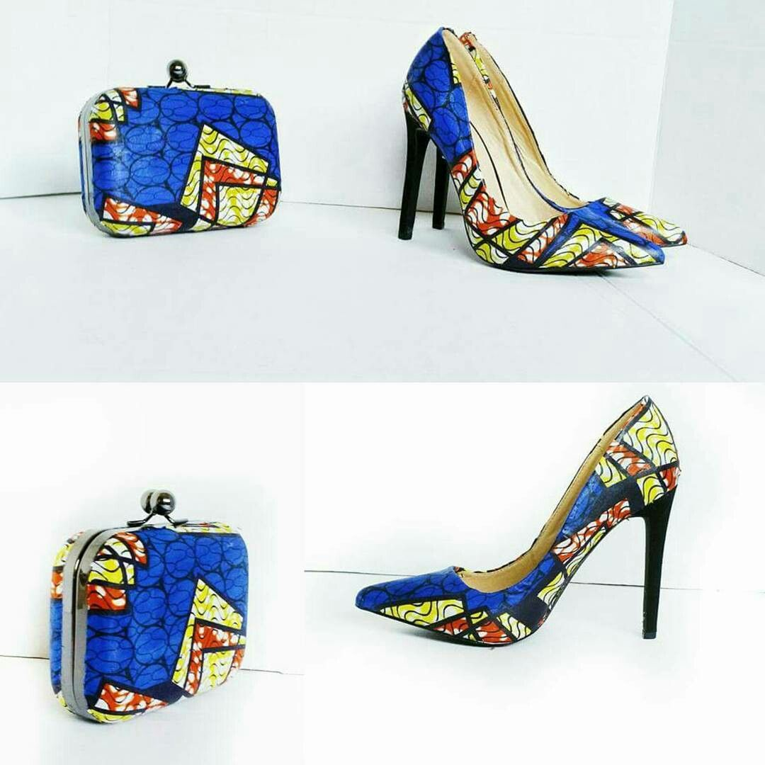 Shoes, African print shoes, African heels African dresses, African clothing…