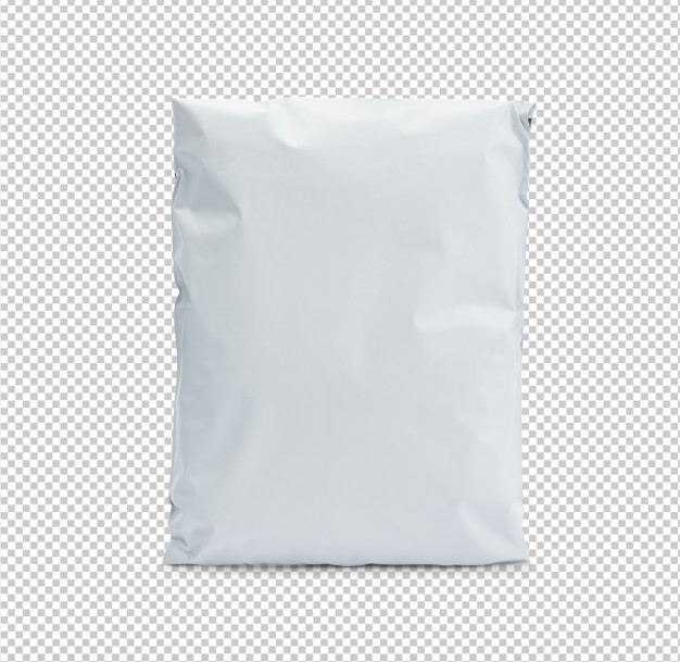 Download Blank White Plastic Bag Package Mockup Template For Your Design Graphic Design Mockup Plastic Bag Packaging Texture Graphic Design