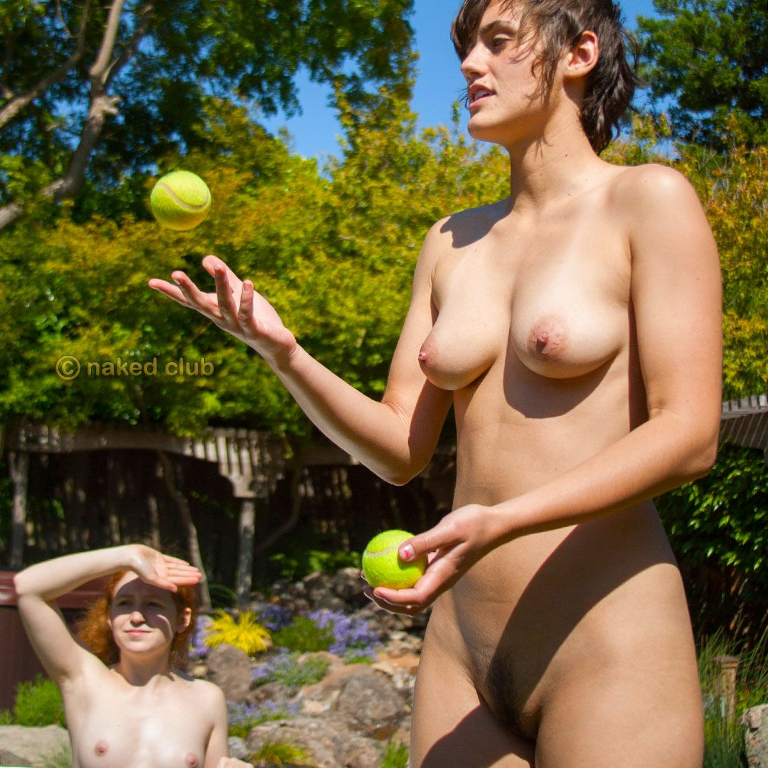 Naked in the backyard your
