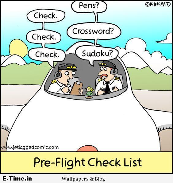 Jet Lagged Pre Flight Check List Flight Attendant Humor Airline Humor Aviation Humor