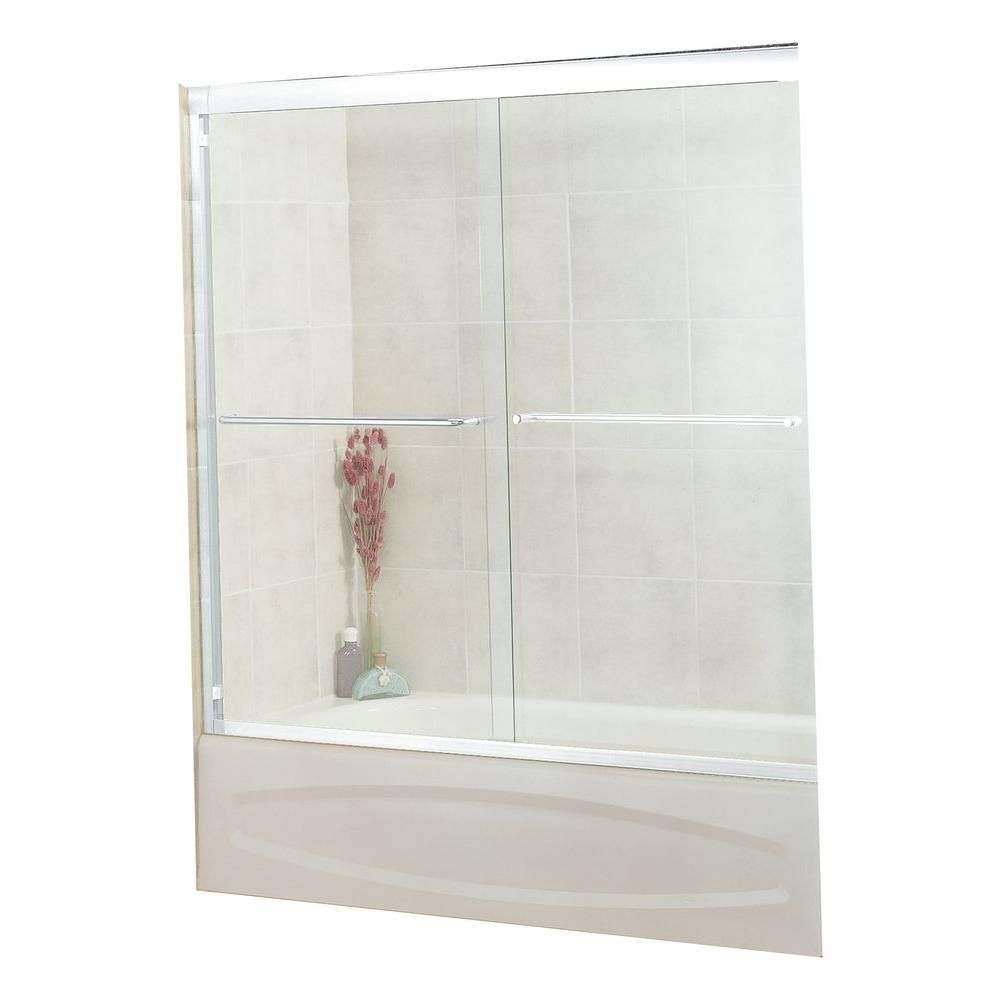 MAAX Tonik 59-1/2 in. x 57-3/8 in. Frameless Sliding Tub Door in ...