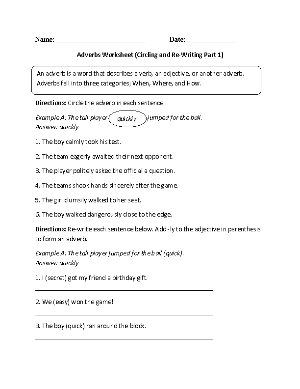 Englishlinx Adverbs Worksheets Englishlinx Board