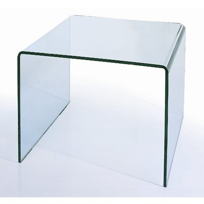 Hokku Designs Ryder Bent End Table End Tables Glass End Tables