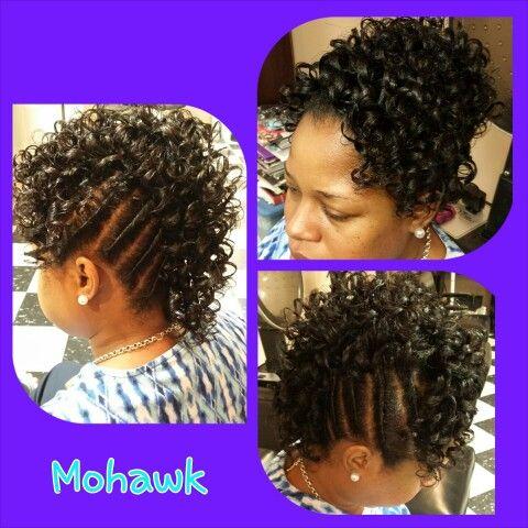 Mohawk W Spiral Curls Twist Spiral Curls Black Hair Curls Natural Hair Styles