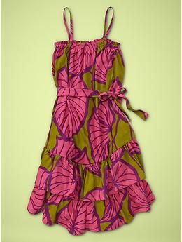 Leaf print dress | Gap--for Rana! She'd look so amazing in this!