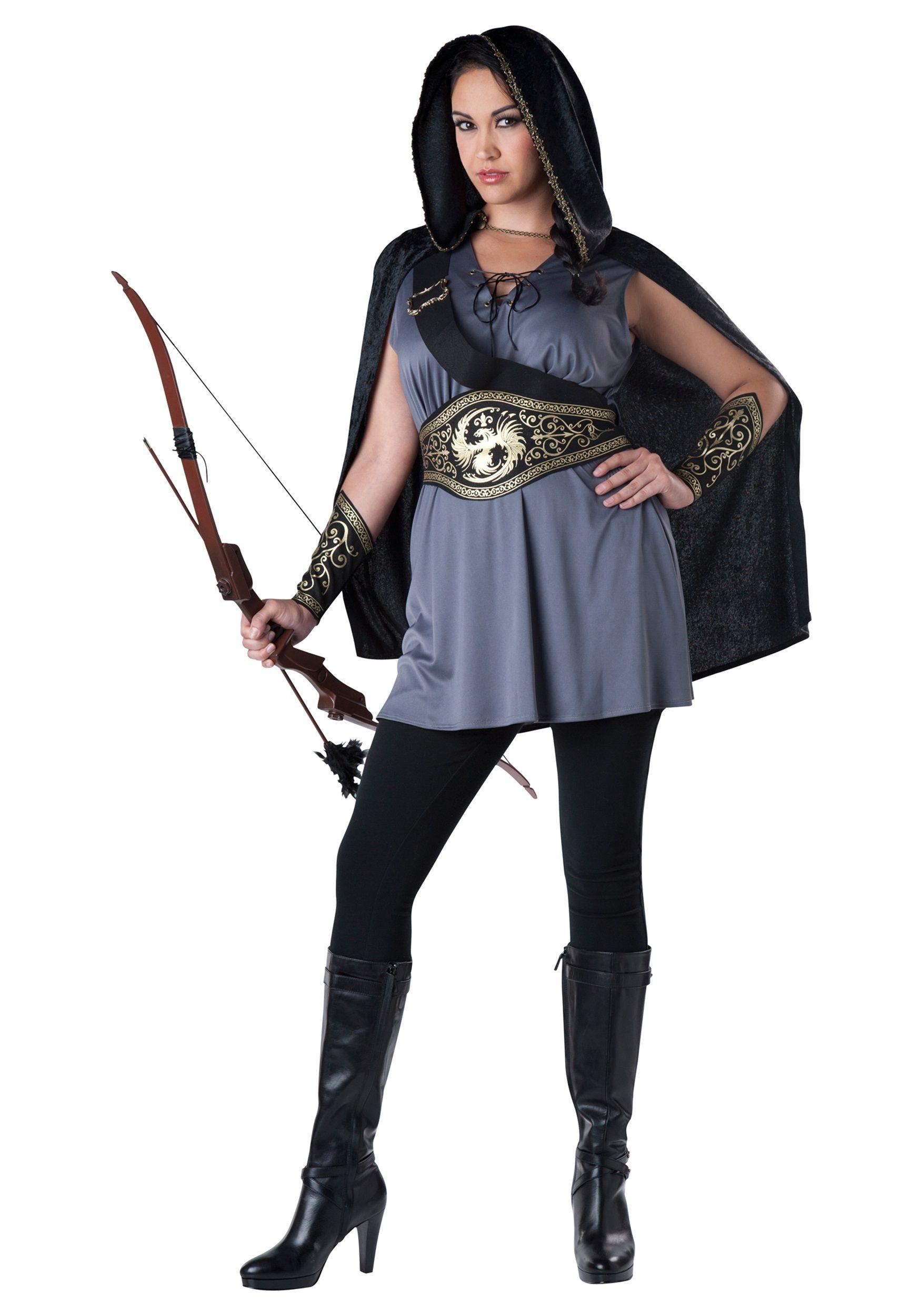 womens plus size huntress costume
