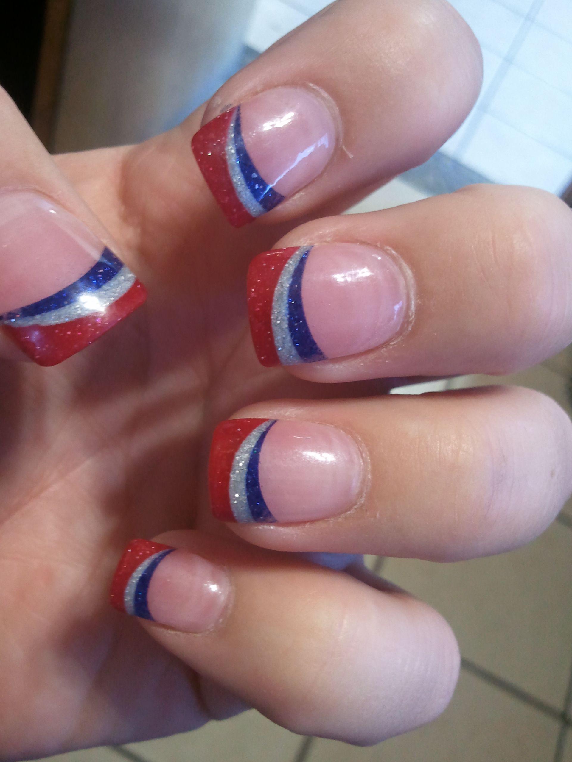 Support Norwood with Red White Blue Fingernails! | fingernails ...