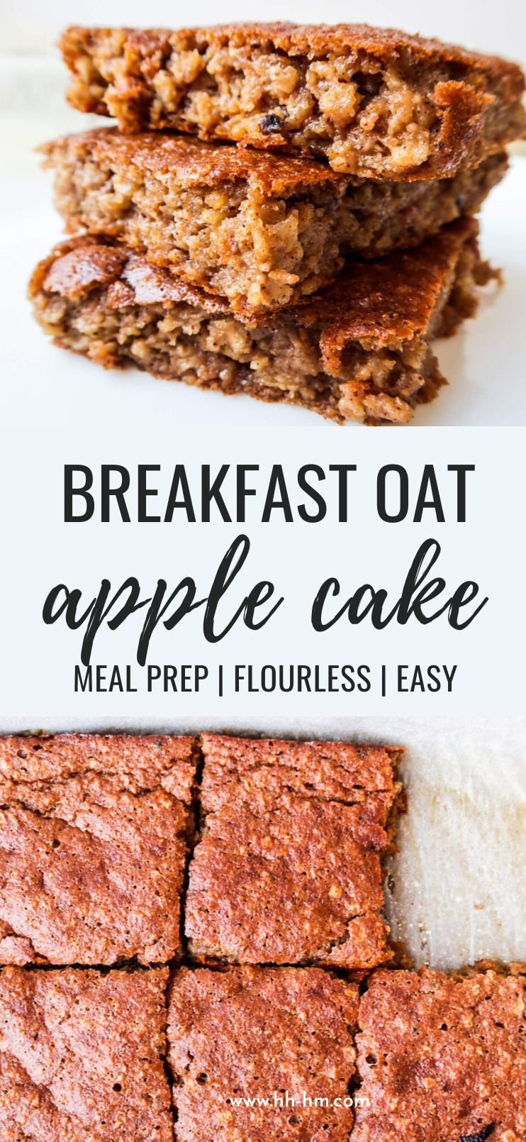 Healthy Breakfast Oatmeal Apple Cake (Flourless) - Her Highness, Hungry Me