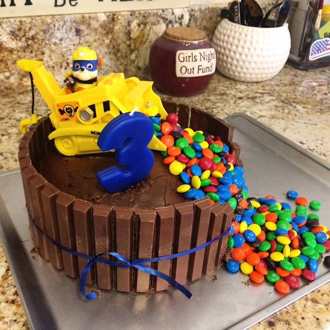 Homemade Paw Patrol Construction Cake Food Recipes Paw Patrol