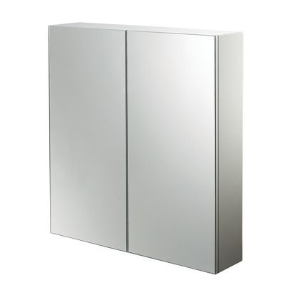Image For Arden Wall Mounted Mirrored Cabinet In White Gloss From