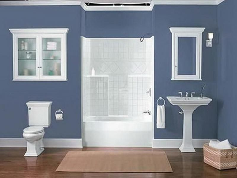 Luxury Bathroom Paint Colors Ideas With Mirror And Cabinets Neutral Elegant - Beautiful blue and brown bathroom decor Ideas