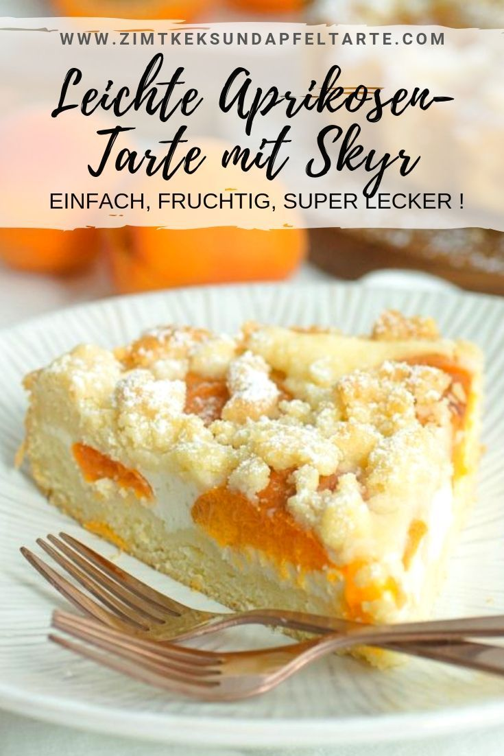 Photo of Light apricot tart with skyr and sprinkles – cinnamon biscuit and apple tart