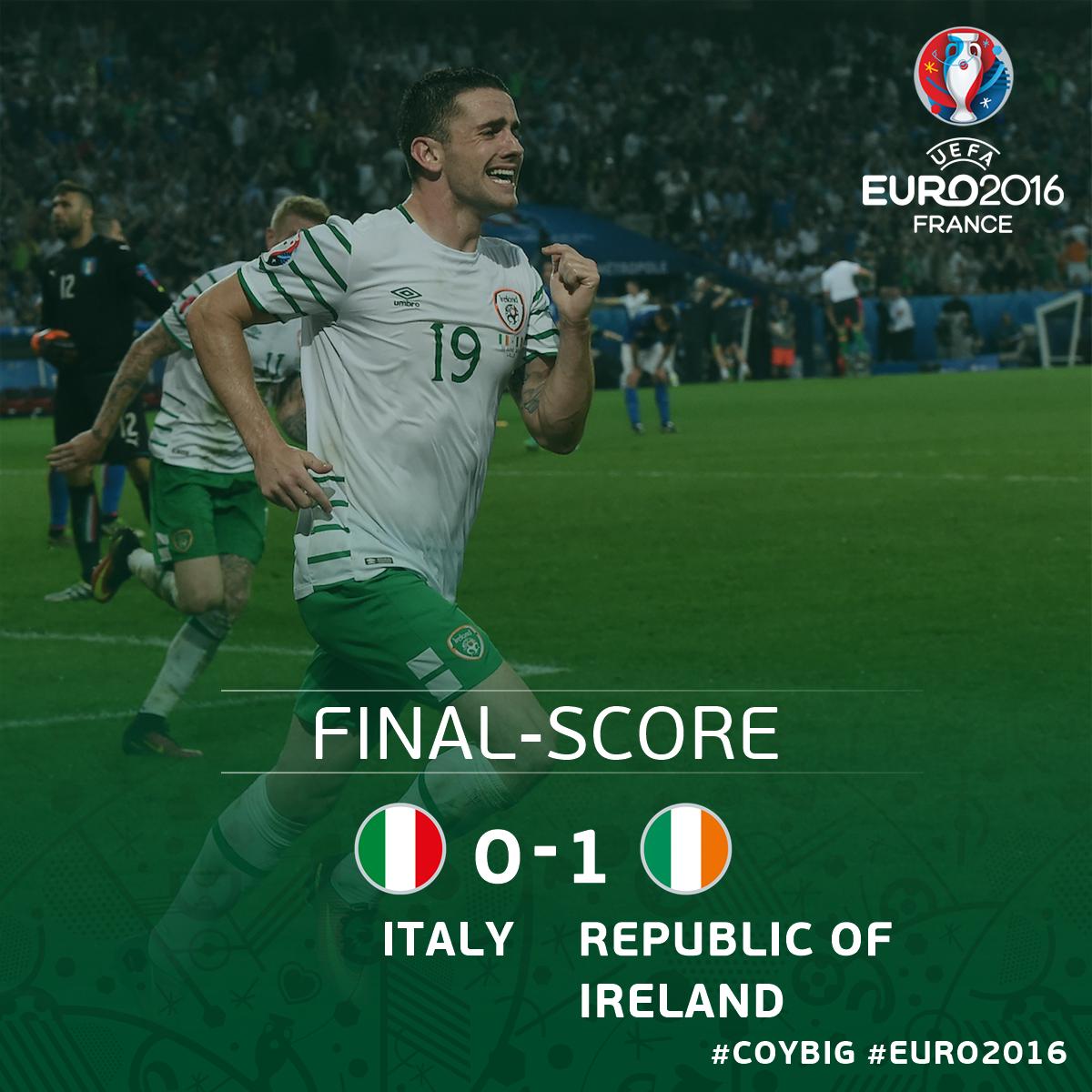 Republic of Ireland qualifies for Euro 2016 Round of 16