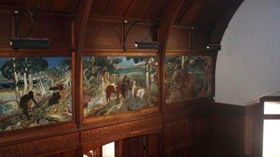 """Purrumbete"" homestead. Sir Walter Withers murals."