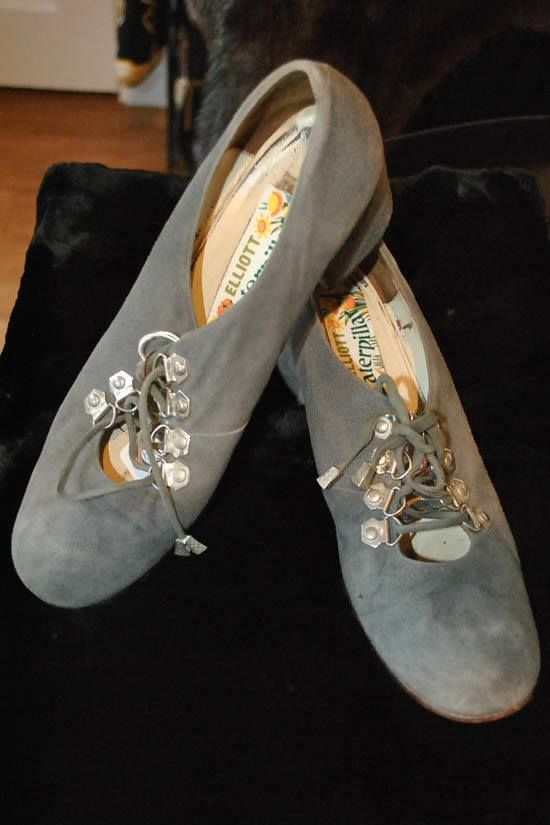 1960s grey suede shoes by Elliott Caterpillar at at Top Notch Vintage, Somerton. TA11 7PY