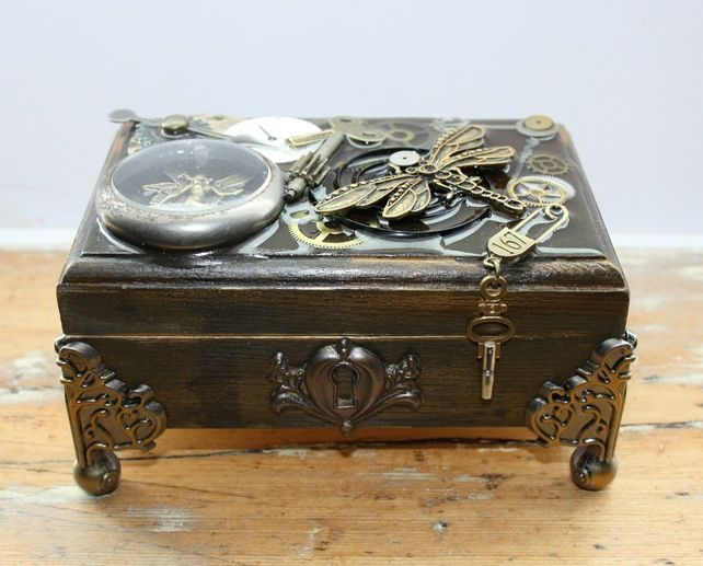 Captured Fairy Steampunk Jewellery Box Steampunk Pinterest