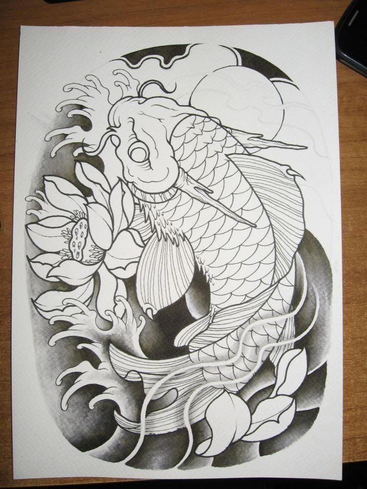 2012 Koi Dragon Inking Japanese Tattoo Art Dragon Koi Tattoo Design Koi Dragon