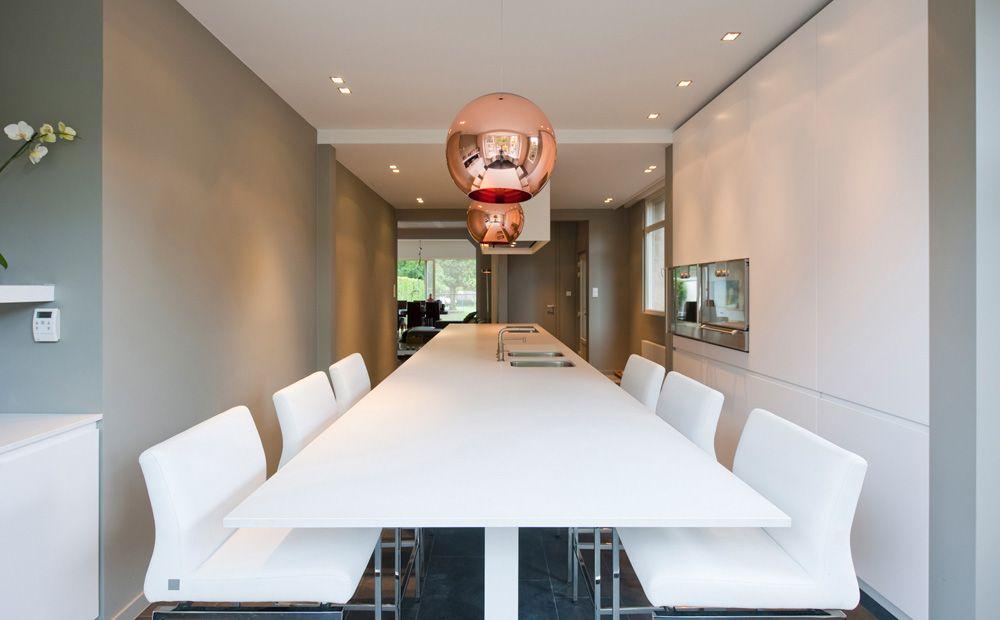 Keukeneiland met barkrukken keuken compact living