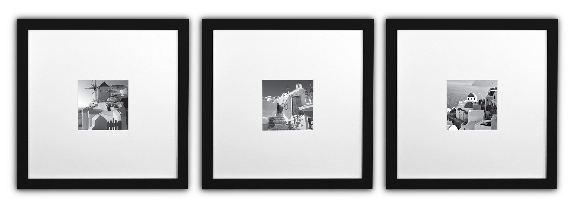 Golden State Art Smartphone Instagram Frames Collection Set Of 3 11x11 Inch Square Photo Wood Frames With White P State Art Frame Collection Instagram Frame