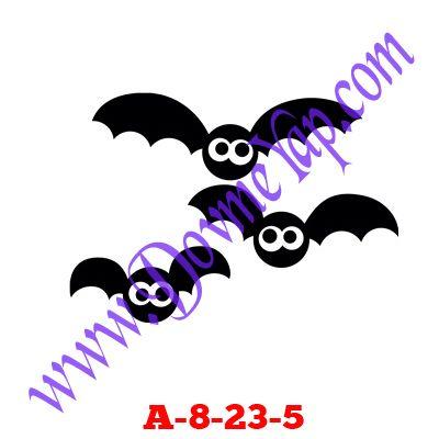 Yarasa Geçici Dövme Şablon Örneği Model No: A-8-23-5