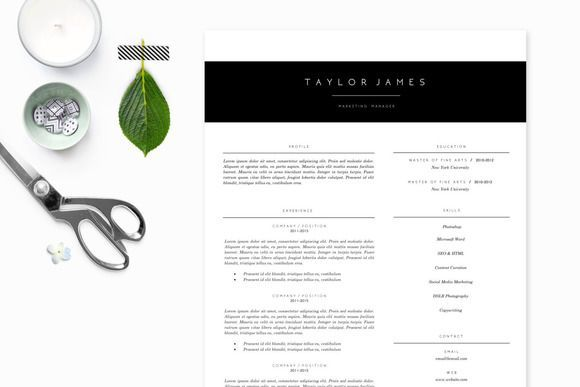 Cool Modern Minimalist Resume Template Creativework  Fonts