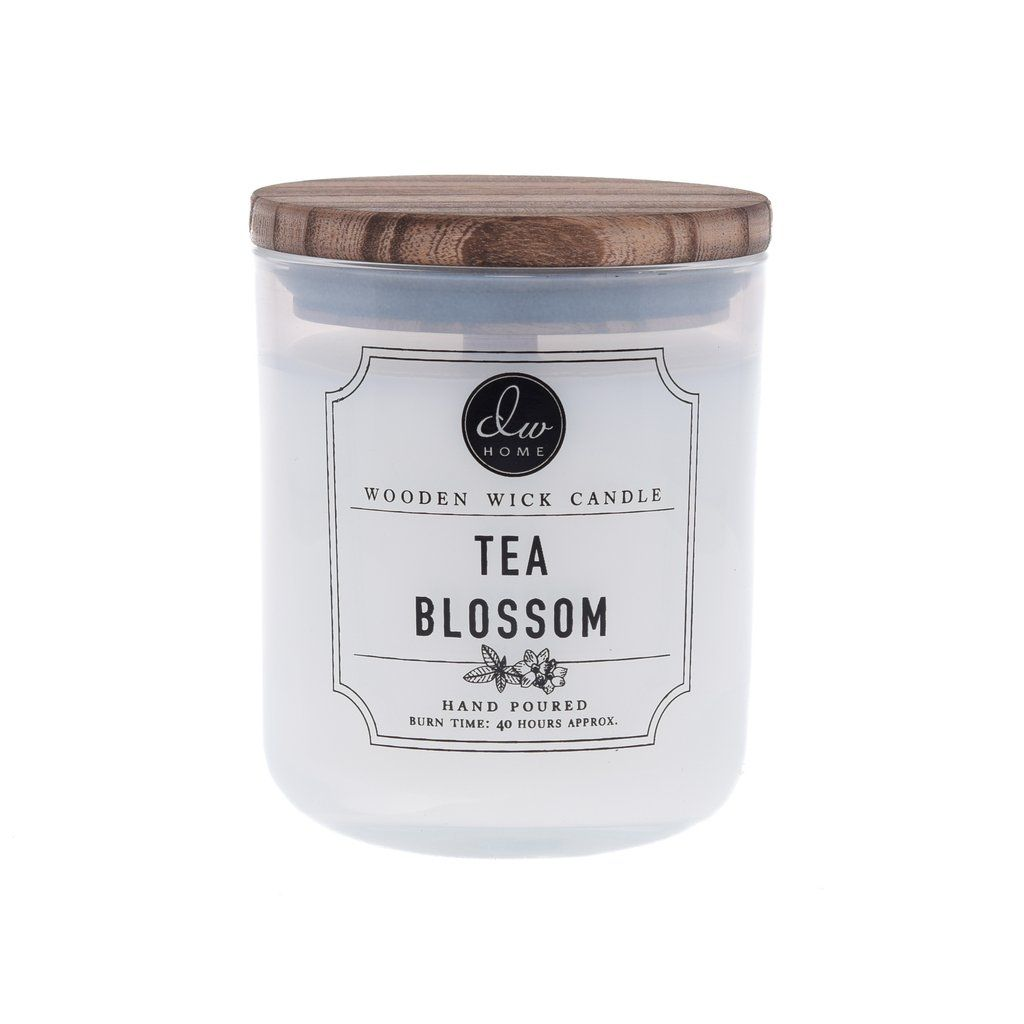 Tea Blossom Dw Home Scented Candles Dwd7000 Wooden Wick