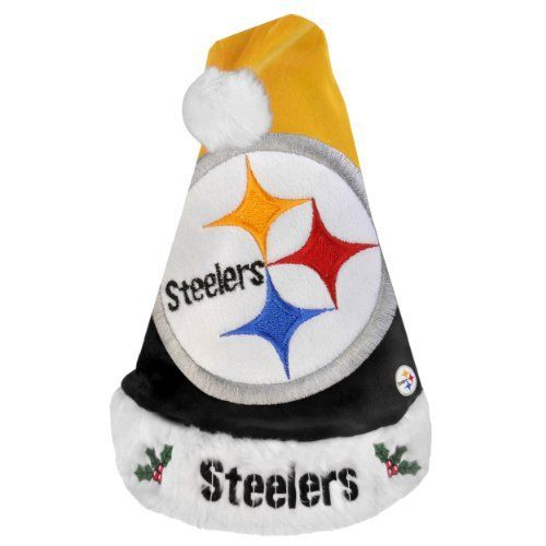 ... reduced nfl pittsburgh steelers santa hat by forever collectibles. f280ff399