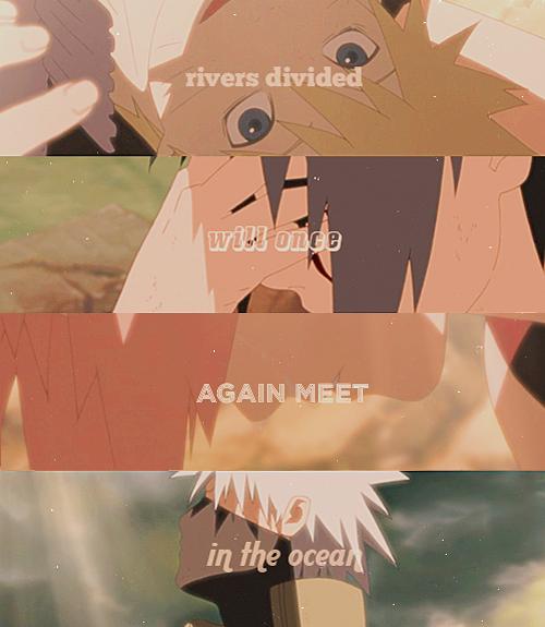 Team 7. Naruto ; Sasuke ; Sakura ; Kakashi