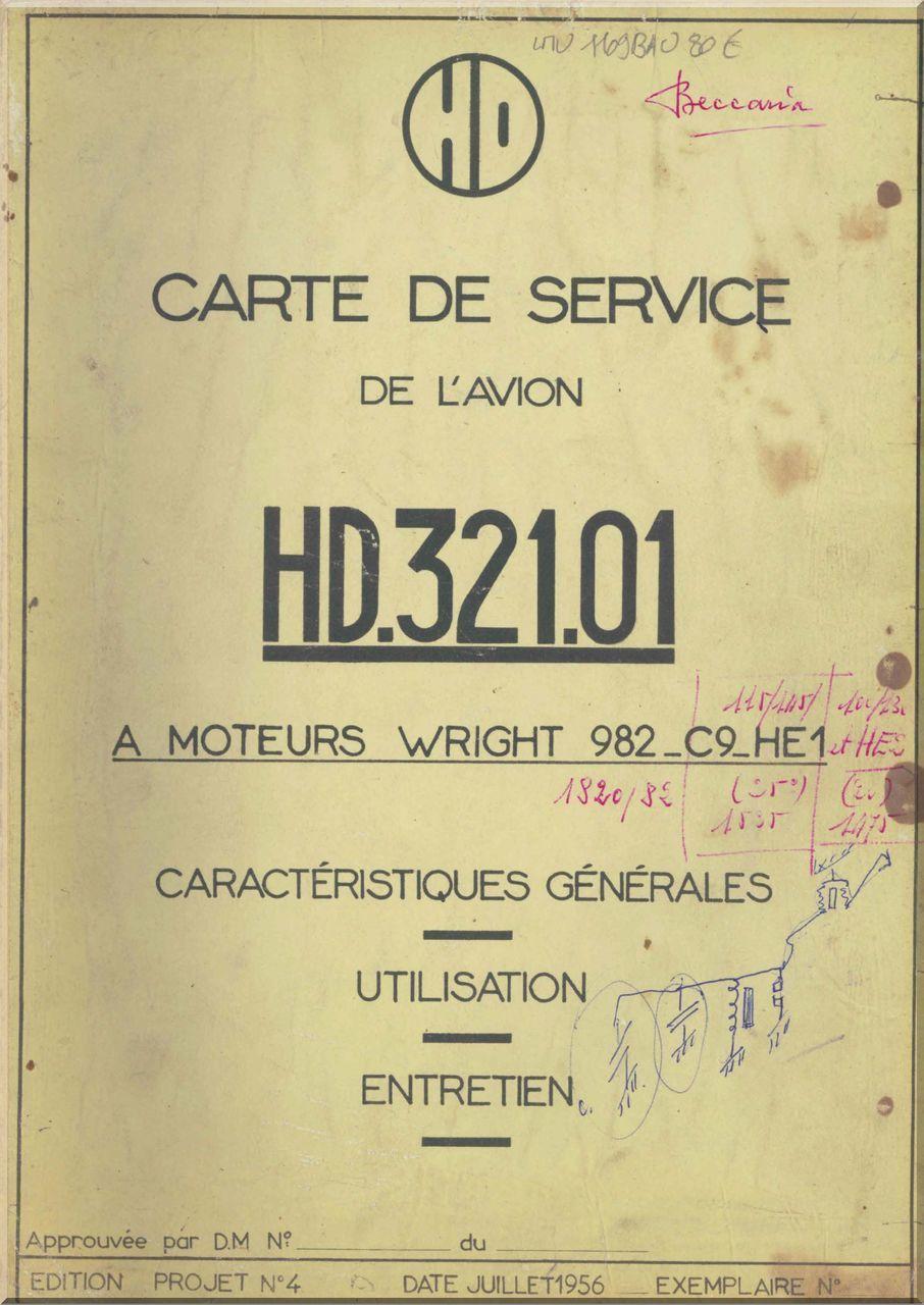 Avions Hurel - Dubois HD.32 Aircraft Service Manual - Aircraft Reports -  Aircraft Manuals - Aircraft Helicopter Engines Propellers Blueprints  Publications