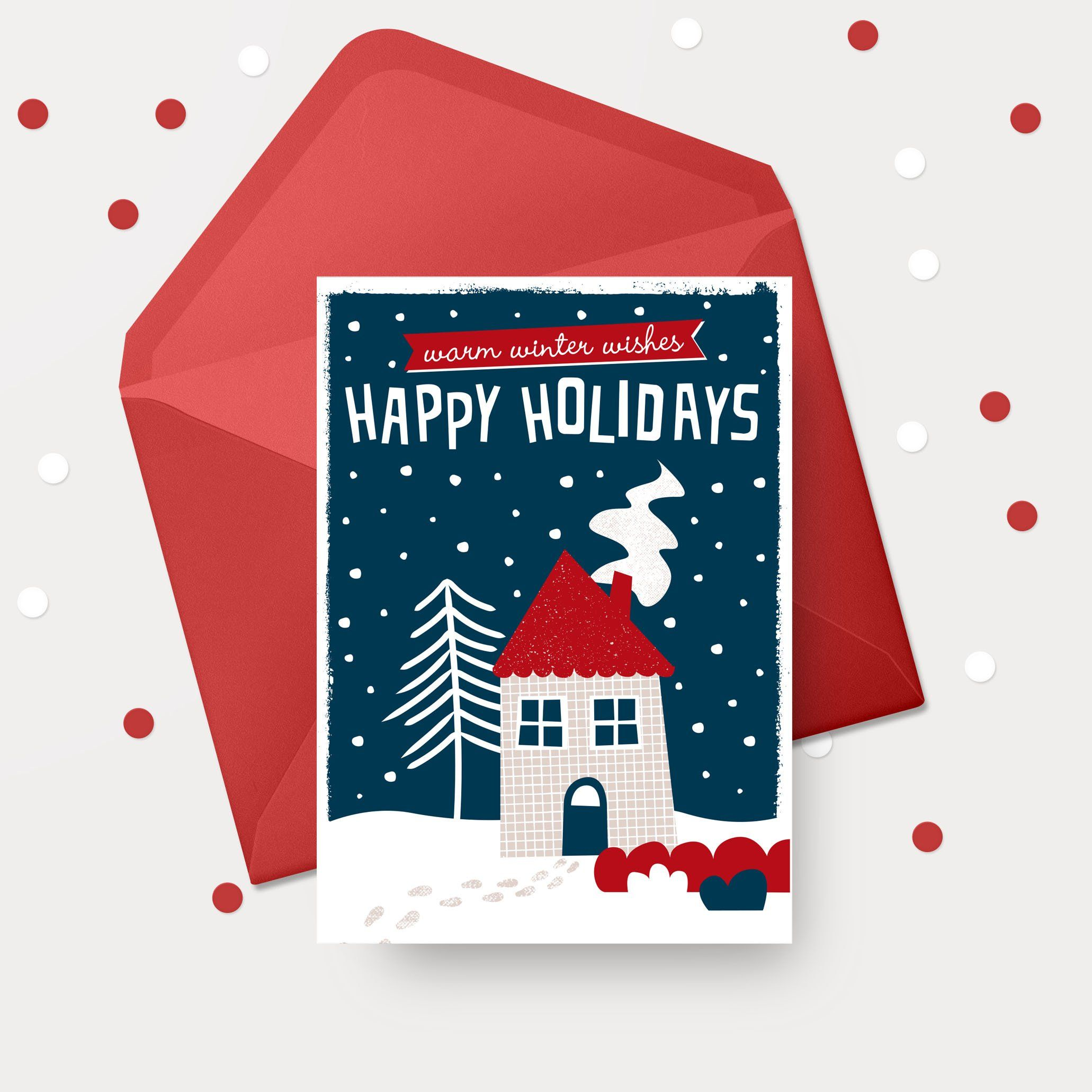 Christmas Card Cosy Christmas Wishes Cards Cosy Christmas