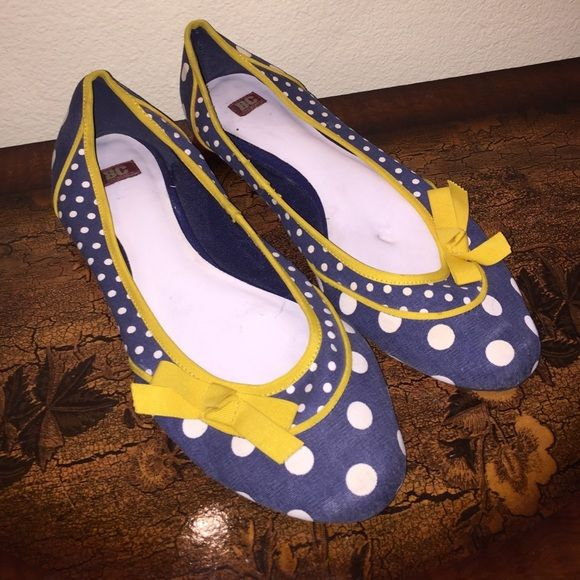 BC Flats Navy Blue Polka Dot Flats. Worn only a few times. NO TRADES BC Footwear Shoes