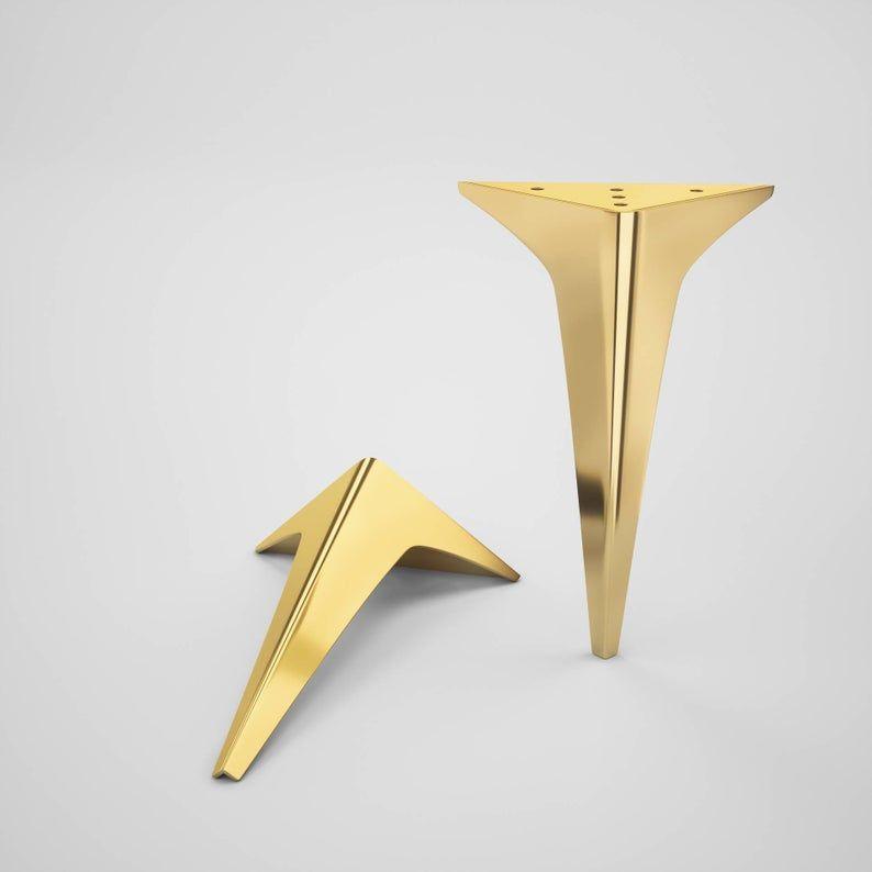 Set Of 4 Brass Furniture Legs Brass Console Legs Metal