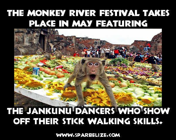 The Monkey River Festival takes place in May featuring the Jankunu dancers who show off their stick walking skills | Flickr - Photo Sharing!