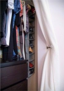 Use A Curtain Track And Curtain To Replace A Closet Door Closet Curtains Curtain Track Curtains For Closet Doors
