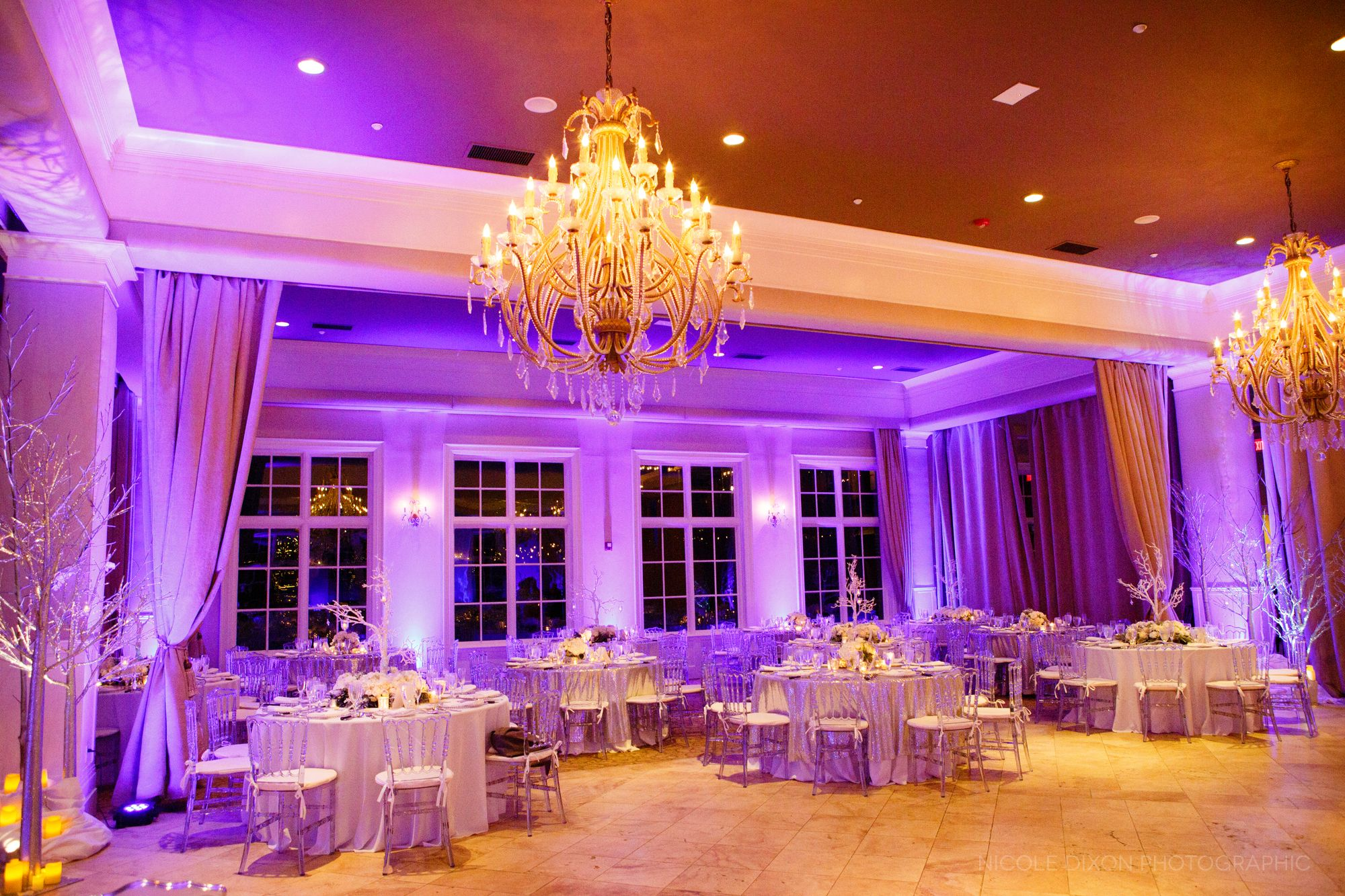 Ballroom at Pinnacle Golf Club. Winter wonderland wedding. Photo ...