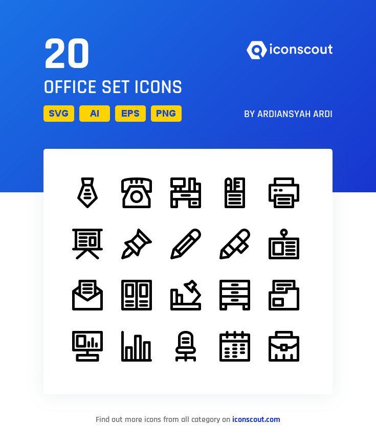 Download Download Office Set Icon pack - Available in SVG, PNG, EPS ...