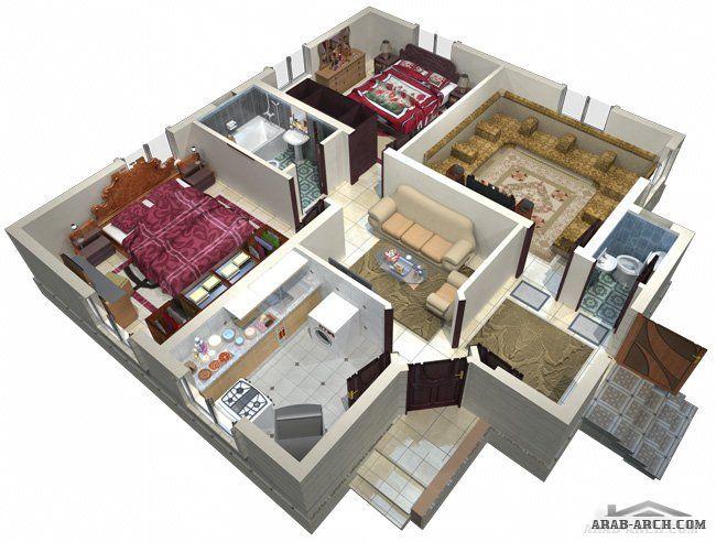 مخطط بيت صغير مساحة البناء 96 متر مربع Arab Arch Hotel Floor Hotel Floor Plan Floor Plans