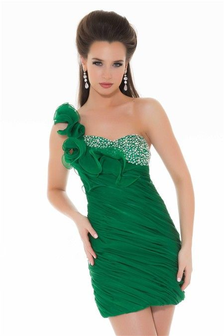 Emerald Green Party Dress - Ocodea.com